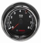 3 3/8 Inch Sun Super Tach II Black / Chrome Bezel  FST7901 0-8000 RPM