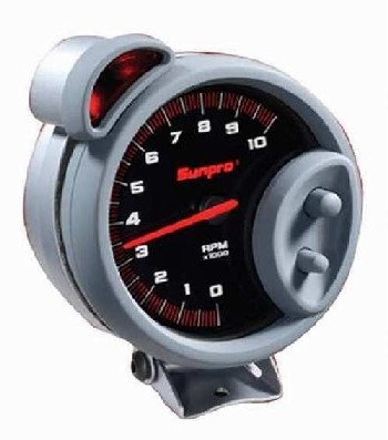 "5"" Sport ST Tachometer 0-10,000 RPM Black / Brushed Bezel CP7900"