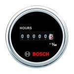 2 Inch Black Analog Hour Meter Black / Chrome Bezel FST7953