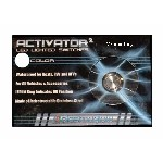 Activator Momentary Nitrous LED Switch White Stainless Steel PlasmaGlow