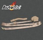 3 Point Retractable Tan Seat Belt (1 Belt)
