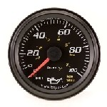 2 Inch Black Faced Mechanical Oil Pressure Gauge Kit Equus 6244 New