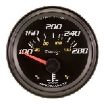 2 Inch Black Faced Electrical Water Temperature Gauge Kit 6262