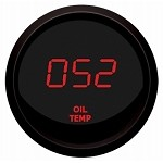 Digital Celsius Oil Temperature Gauge Red / Black M9108RM