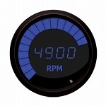 2-Stroke Digital Snowmobile Tachometer Blue / Black Bezel M9101B