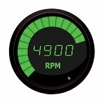 2-Stroke Digital Snowmobile Tachometer Green / Black Bezel M9101G