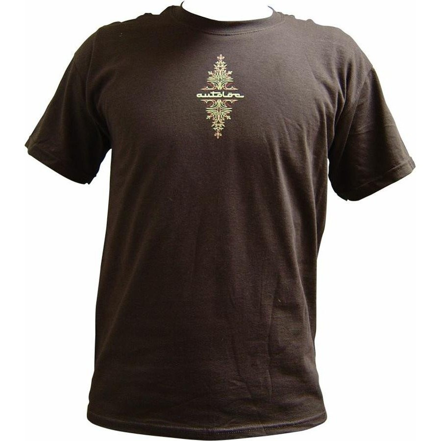 AutoLoc Large Brown Short Sleeve Pinstripe T Shirt STYLE 1
