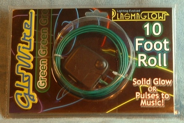 10 Foot Green Neon Glowire PlasmaGlow Auto Lighting Glow Solid or Pulse Mode