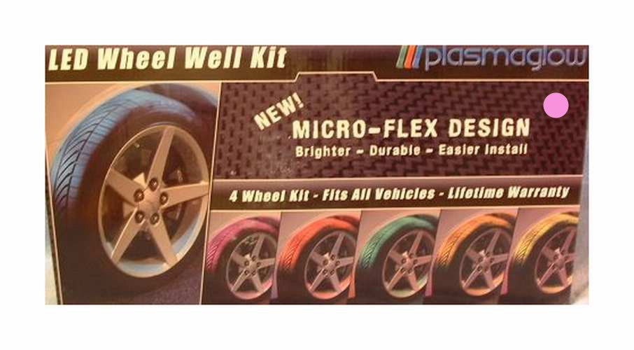 Flexible LED Wheel Well Kit Pink PlasmaGlow 100% Waterproof Lifetime Warranty