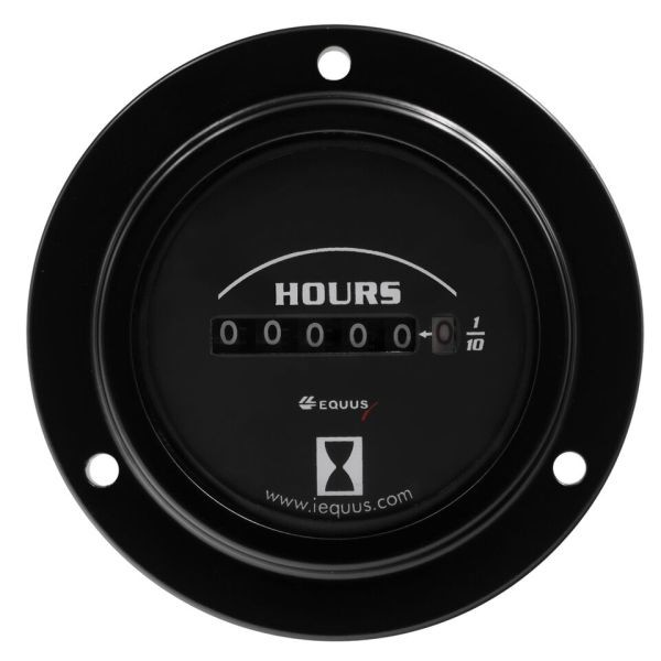 2 Inch Black Faced Analog Hourmeter Gauge Equus 6210