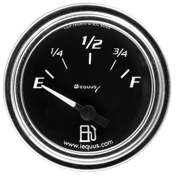 2 Inch Chrome Bezel Black Faced Fuel Level Gauge for GM 7362