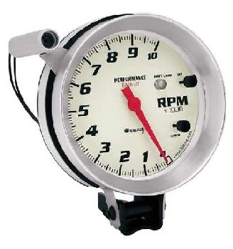 5 Inch Tachometer with Shift Light Equus 8080 0-10,000 RPM