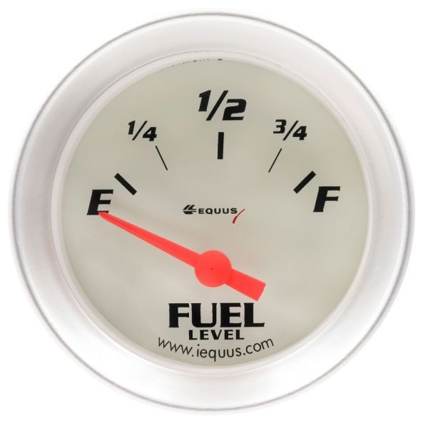 2 Inch Fuel Level Gauge for AMC White / Aluminum Bezel 8363